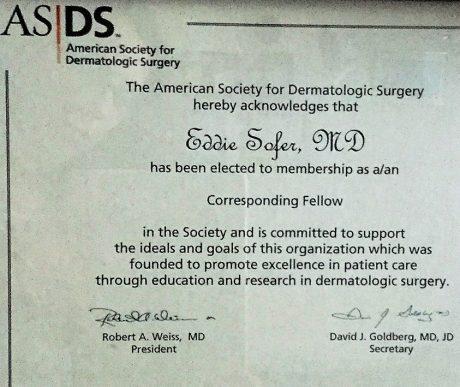חבר בחברה האמריקאית לכירורגיה דרמטולוגי