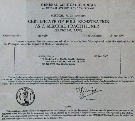 תואר ברפואה – אנגליה 1980
