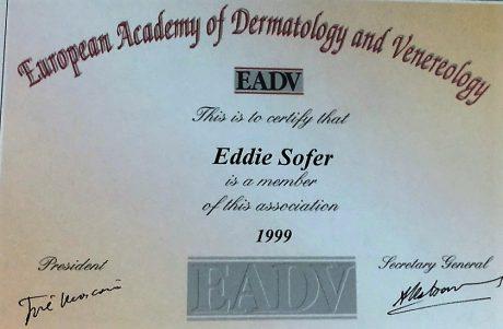 חבר באקדמיה האירופאית לדרמטולוגיה 1999